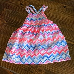 3 or 5/$15 NWT 6-9m OshKosh neon chevron dress